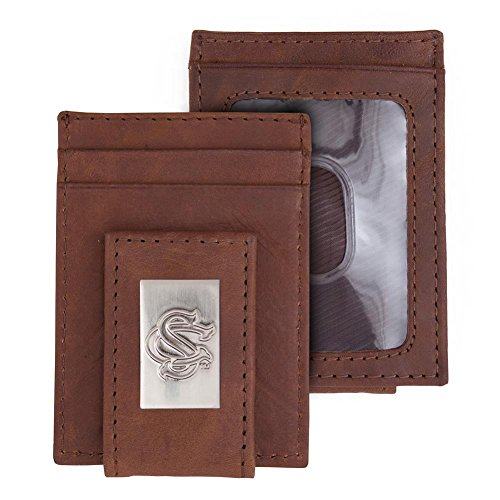 (Eagles Wings South Carolina Gamecocks Wallet Front Pocket Leather Wallet)