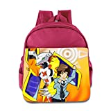 Toddler Kids Digimon Adventure School Backpack Style Children School Bags Pink