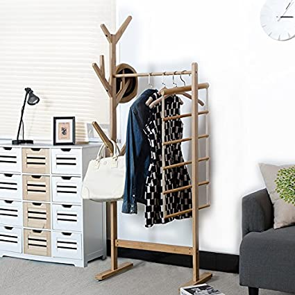 Amazon.com: Simple creative coat rack hanger living room ...