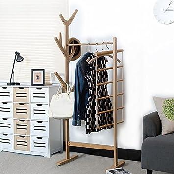 Simple Creative Coat Rack Hanger Living Room Wood Floor Corner Racks Bedroom  European Style Clothing