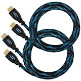 Twisted Veins HDMI Cable 10 ft, 2-Pack, Premium HDMI Cord Type High Speed with Ethernet, Supports HDMI 2.0b 4K 60hz HDR on Most Devices and May Only Support 4K 30hz on Some Devices