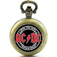 Reloj de Bolsillo o Collar de Cuarzo ACDC