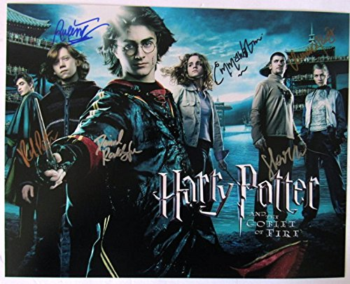 Harry Potter The Goblet Of Fire Cast Signed 11x14 Photograph At