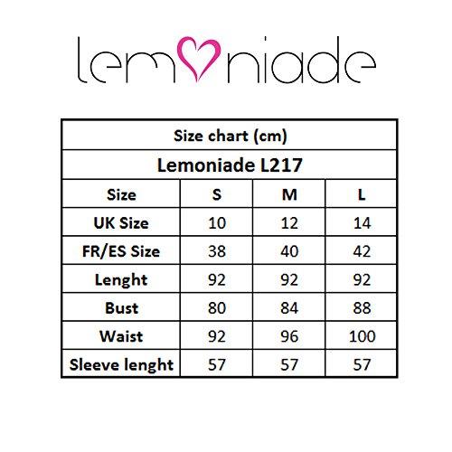 Abito Lunga L217 Lemoniade Manica Femminile Nero A Uniforme OXSxwq