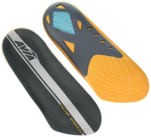 Avia Heel Relief Plantar Fasciitis Orthotic Insole, Level 3, Men's Size 8-12 by Avia