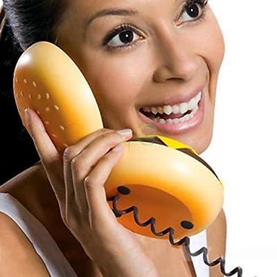 lilyy® Geek Hamburger Burger Cheeseburger Telephone Home Desktop Corded Phone