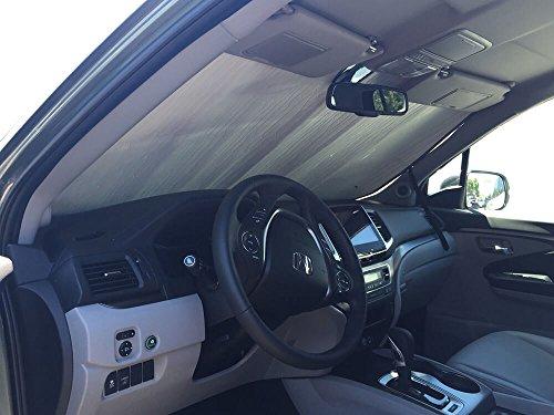 HeatShield The Original Auto Sunshade, Honda Ridgeline Truck (Crew Cab) w/o Sensor 2017, 2018, 2019, Silver Series -