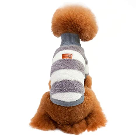 Andre Mascotas Ropa para Gatos y Perros Calentar Abajo Otoño Invierno Abrigo Coral Fleece Ropa para