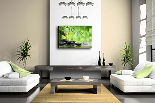 First-Wall-Art-Green-Spa-Still-Life-With-Bamboo-Fountain-And-Zen-Stone-In-Water-Wall-Art-Painting-The-Picture-Print-On-Canvas-Botanical-Pictures-For-Home-Decor-Decoration-Gift-Stretched-By-Wooden-Fram