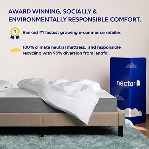 Nectar King Mattress + 2 Pillows Included - Gel Memory Foam Mattress - CertiPUR-US Certified Foams - 180 Night Home Trial - Forever Warranty