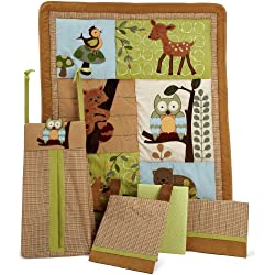 Lambs & Ivy, Enchanted Forest Unisex 5 Piece Crib Bedding Set