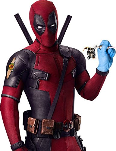 Deadpool 2 Costume Slim Fit Genuine Leather Jackets (2XS, Faux Leather)