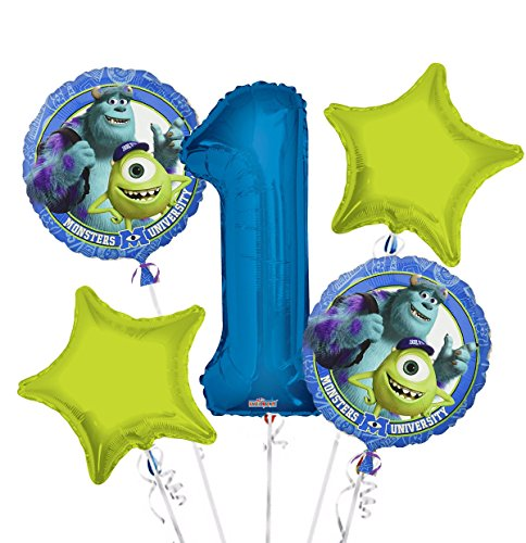 Monsters University Balloon Bouquet 1st Birthday 5 pcs - Party Supplies