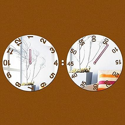 QUTICL Reloj De Pared De Cuarzo Acrílico Nuevo Salón Moderno De Lujo De Diseño 3D De