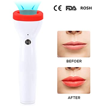 Lip Plumper Device Automatic Fuller Lip Plumper Enhancer Plumper Tool for  Women and Girls (Red)