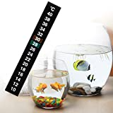 Fucung 2Pcs/Set 10~40°C Aquarium Fish Tank Sticker Thermometer, Digital Dual Scale Stick-On Temperature Thermometer - Accurately Measures - Fast Read - Keep Fish Healthy - One Minute to Set-up