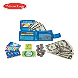 Melissa & Doug Pretend-to-Spend Wallet (Pretend Shopping Toy, 40+ Pieces)
