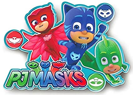Pj Masks LED Lamp Chase Sticker Wall 20 x 20 cm JAV