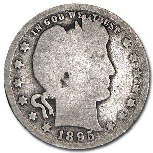 1895 O Barber Quarter Good Quarter Good