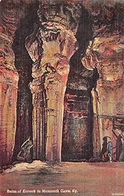 Caves Post Card Ruins of Karnak, Mammoth Cave Mammoth Cave National Park, Kentucky, USA 1954