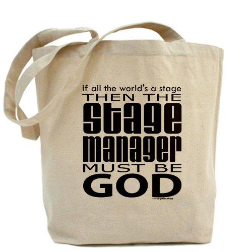 Cafepress–Stage manager Dio–Borsa di tela naturale, tessuto in iuta