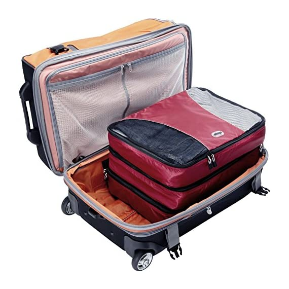 """eBags Large Classic Packing Cubes for Travel - 3pc Set 2 INCLUDES 3 Large PACKING CUBES: Dimensions are 17.5"""" x 12.75"""" x 3.25""""; great for packing sweaters, jeans, dress pants, etc. SUPERIOR QUALITY: Highest construction standards utilized, making it a customer-favorite, packing cube of choice. Includes premium self-healing zippers with corded pulls for a lifetime of opening and closing. DURABLE & CONVENIENT: Interior seams fully finished for durability and soft mesh tops won't damage delicate fabrics or dress clothes. Mesh allows for easy identification - no more digging around!"""