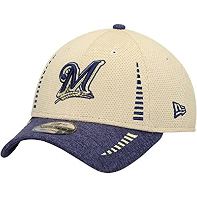 Milwaukee Brewers New Era Speed Tech 9FORTY Adjustable Hat Gold