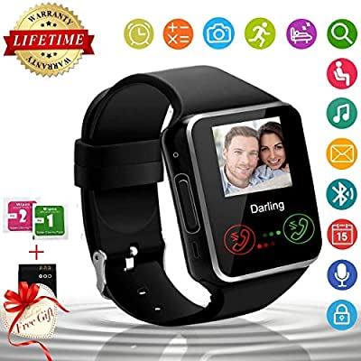 Amazon.com: Reloj inteligente, Bluetooth Smartwatch pantalla ...