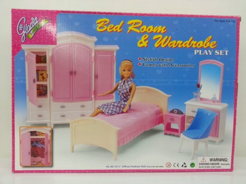 My fancy life dollhouse furniture bed room and wardrobe - Barbie living room dress up games ...