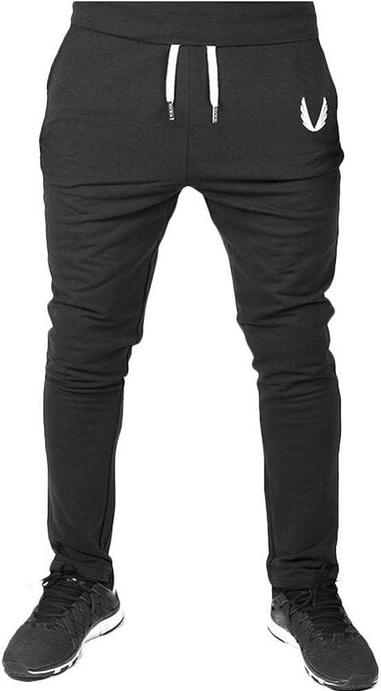 C/ómodo Cintura El/ástica Casual Pantalones Largos Cargo para Hombre Jogging Casual Pantal/ón Aptitud del Deporte de los Hombre Pantalones Deportivos para Hombre mmujery