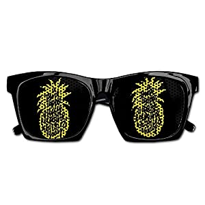 TyYJ Pineapple Quotes Yellow Fashionable Visual Mesh Lens Sunglasses Resin Frame Eyewear Party Favor Gifts