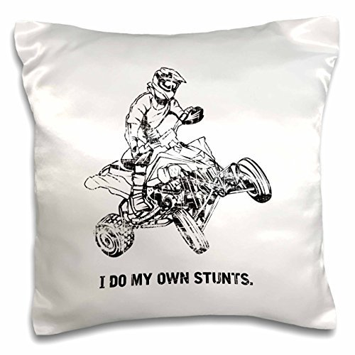 onepicebest I do My own Stunts ATV Rider Quad Biker Offroad Fun Quote - 18x18 inch Pillow -