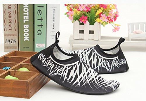 Suave guantes Fitness Para Yoga Studio Sport zapatillas casa Outdoor–Zapatos de natación - Silber-
