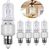 JDE11, E11 halogen bulb 120V 75W with 3000 Hours Long Lasting Life, Mini Candelabra Base, JD 75W for for Chandeliers, Pendants, Table Lamps, Cabinet Lighting, Warm White Dimmable, Pack of 4
