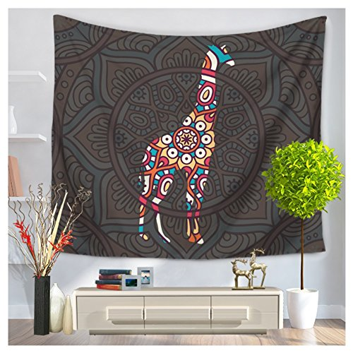 Betterwish New Wall Hanging Tapestry national wind animals hanging beach towel blanket (L: 210150 cm(83''51''), 3) by Betterwish