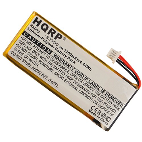 HQRP 1200mAh Battery for Insignia NS-NAV01 NS-NAV02 NS-NC...