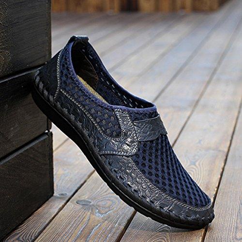 YiLianDa Calzado Piel Zapatos Cómodos Sandalias Hombres Azul