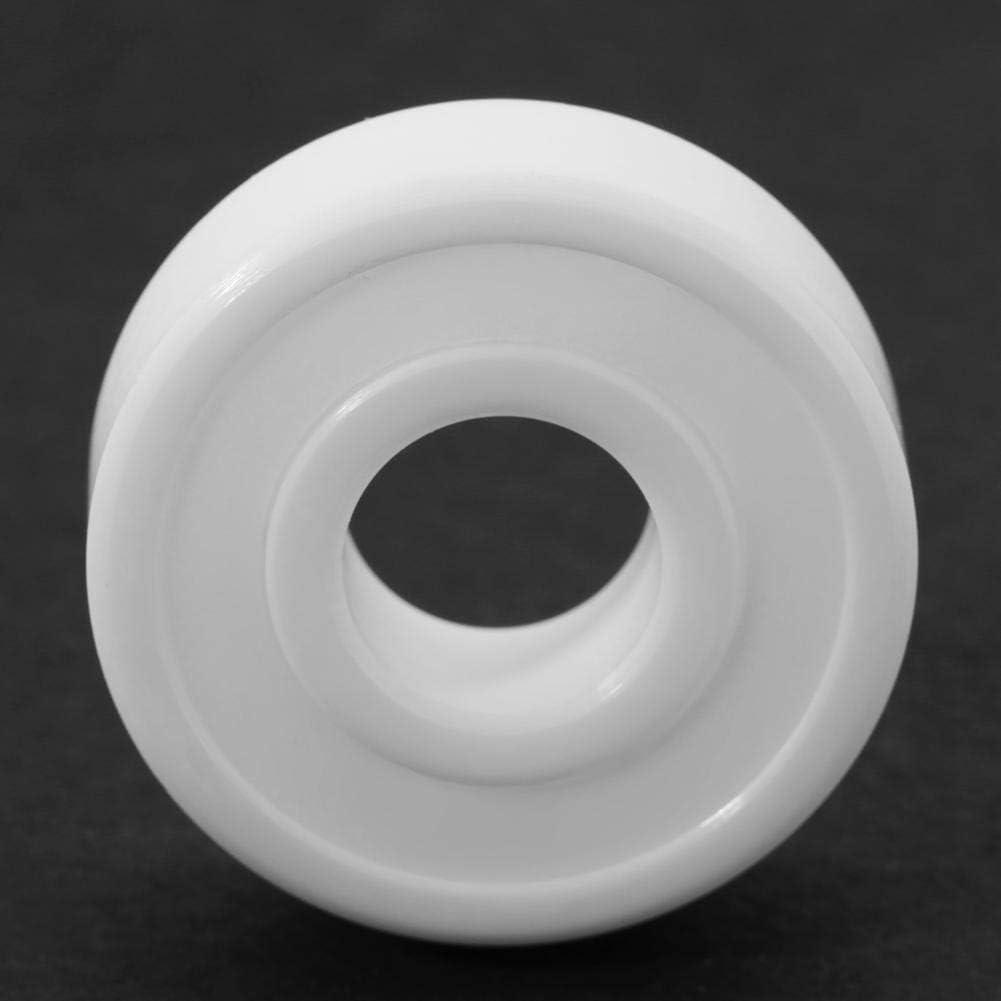 Maxmartt White Color ZrO2 Full Ceramic Miniature 6000-2RS Ball Bearing 10x26x8mm