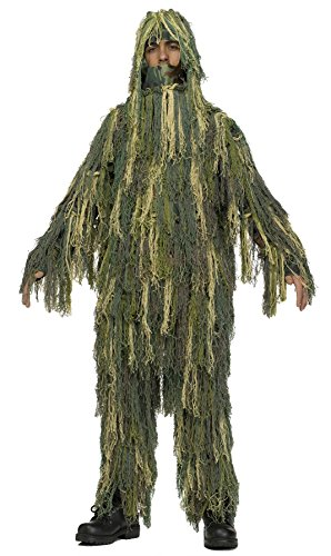 Camouflage Halloween Costumes (UHC Boy's Army Ghillie Suit Jacket Trousers Camo Child Halloween Costume, M (8-10))