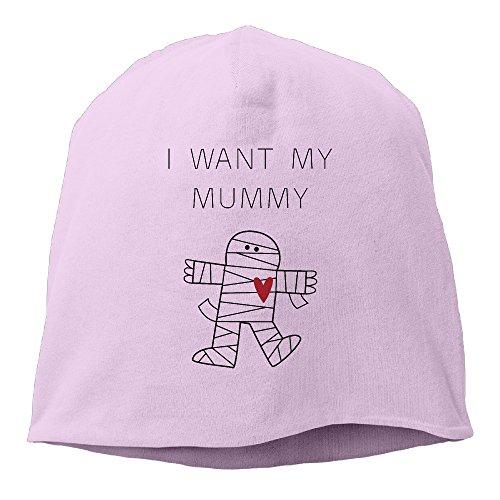 I Want My Mummy Halloween Funny Wool Watchcap Beanie Hat]()