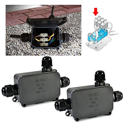 Amazon.com Idealeben 2 Pcs Waterproof IP66 Outdoor/External Junction Box 3-cable PG9 Black Plastic Connector Gland Can Underground Cable Sleeve Home ...  sc 1 st  Amazon.com & Amazon.com: Idealeben 2 Pcs Waterproof IP66 Outdoor/External ... Aboutintivar.Com