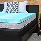 3 Gel Foam Mattress Topper Sealy Performance 3-Inch Gel Memory Foam Mattress Topper Washable Cover, 5 YR Warranty, Twin