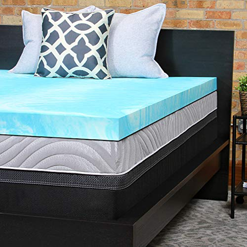 Sealy Performance 3-Inch Gel Foam Mattress Topper Washable Cover, 5 YR Warranty, Twin