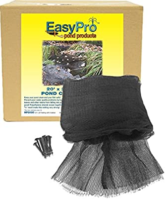 EasyPro Prepackaged Premium Pond Cover Netting with stakes 20 x 30 Netting EAPRN