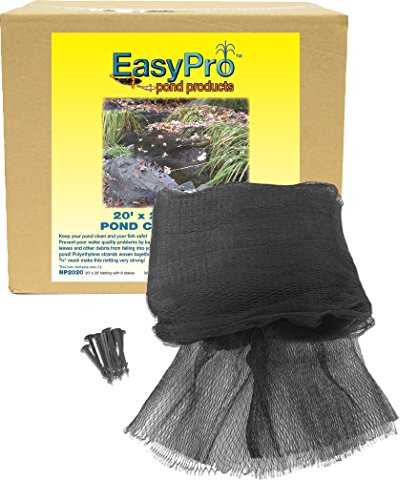 (EasyPro NP2030 Premium 3/4-Inch Pond Cover Netting, 20' x 30' with 10 Stakes)