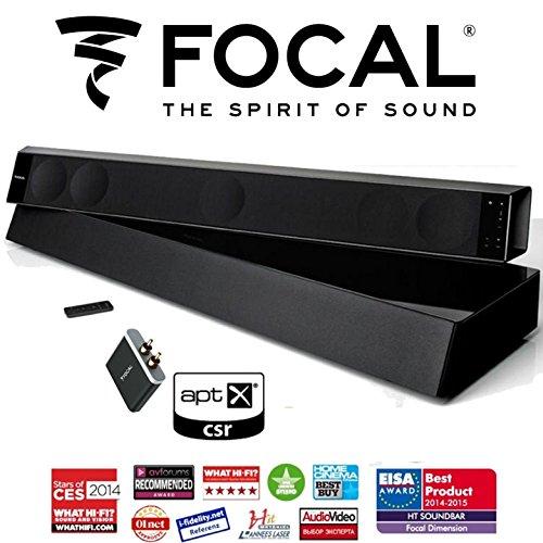 Focal Dimension 5.1 Soundbar Bundled with Focal Subwoofer & APT-X Bluetooth Receiver by Focal