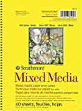 Strathmore 300 Series Mixed Media Pad, 5.5'x8.5' Wire Bound, 40 Sheets