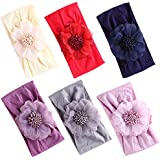 2019 New Baby Super Stretchy Nylon Knotted Headbands Baby Head Wraps Baby Headbands Bows (2019C)