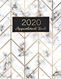 Books : 2020 Appointment Book: Marble Cover, 52 Weeks Daily Hourly Appointment Calendar With Times 15 Minute Increments Monday to Sunday with 8AM - 9PM, 2020 ... Book Daily Planner January - December 2020)