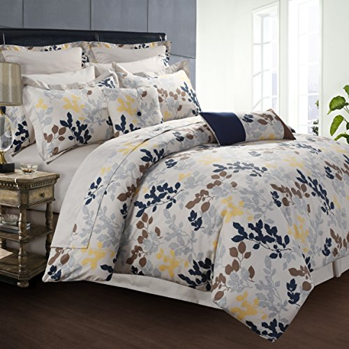 Tribeca Living Barcelona Cotton 12-Piece Bedding Set King